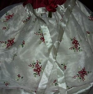 Red & White Festive Girls Dress